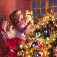 Santa Little Angel Bright Fine Art Print