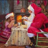 Santa Tea For Two Fine Art Print