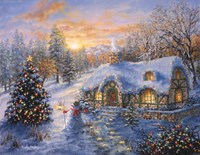 Christmas Cottage 1 Fine Art Print