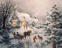 Christmas Visit Fine Art Print