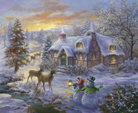 Christmas Cottage 2 Fine Art Print
