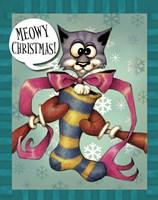Santa Kitten Framed Print
