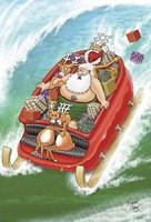 Sleigh Surfing 1 Fine Art Print