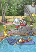 Pool Barbecue by Frank Spear - various sizes, FulcrumGallery.com brand