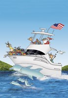 Boat Dolphins US Flag by Frank Spear - various sizes - $13.49