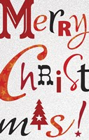 Christmas Text White by Frank Spear - various sizes