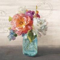 French Cottage Bouquet I Fine Art Print
