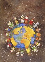 Holiday Children Around The World Fine Art Print
