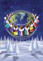 Holiday Angels Around the World Fine Art Print