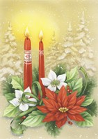 Red Holiday Candles by DBK-Art Licensing - various sizes