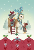 Penguin and Deer Christmas Prep by DBK-Art Licensing - various sizes