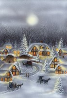 Horse and Buggy In Winter Snow Fine Art Print