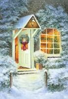 Snowy Winter Christmas Open Home Fine Art Print