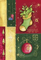 Holiday Sock and Christmas Ornament Fine Art Print