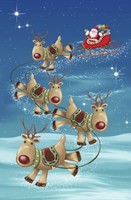 Santa and Dear Touch Down by DBK-Art Licensing - various sizes