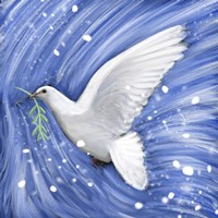 Dove In The Winter Wind Fine Art Print