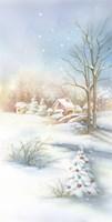 Christmas Snow In The Village Fine Art Print