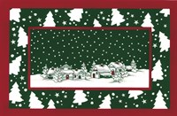 Red and Gree Christmas Village by DBK-Art Licensing - various sizes