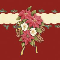 Pointsettia With Mistletoe and Ribbon by DBK-Art Licensing - various sizes
