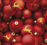 Red and Gold Sparkling Ornaments by DBK-Art Licensing - various sizes