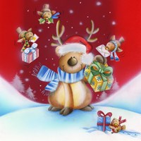 Birds Bearing Deer Christmas Gifts by DBK-Art Licensing - various sizes - $19.49