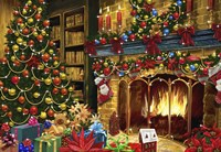 All Decorated For Christmas Around The Fire by DBK-Art Licensing - various sizes