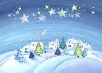 Starry Holiday Snow Scene by DBK-Art Licensing - various sizes