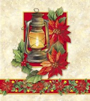 Pointsettias and Oil Lamp by DBK-Art Licensing - various sizes
