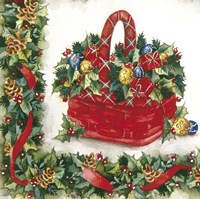 Red Christmas Gift Basket by DBK-Art Licensing - various sizes