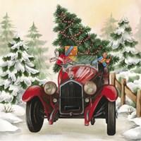 Christmas Tree Classic Car Ride I Fine Art Print