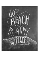 The Beach Is My Happy Place Fine Art Print