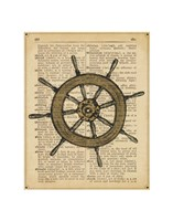 Nautical Series - Ship Wheel Fine Art Print