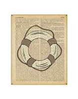Nautical Series - Life Preserver Fine Art Print