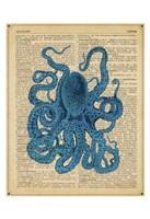 Vintage Octopus Framed Print