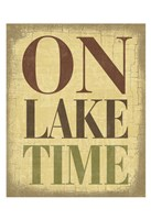 On Lake Time Fine Art Print