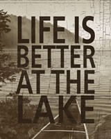 """Life Is Better At The Lake by Sparx Studio - 16"""" x 20"""""""