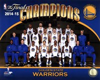 Golden State Warriors 2015 NBA Finals Champions Team Sit Down Photo Fine Art Print