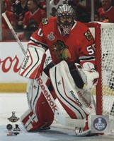 Corey Crawford Game 6 of the 2015 Stanley Cup Finals Fine Art Print