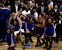 The Golden State Warriors celebrate winning Game 6 of the 2015 NBA Finals Fine Art Print