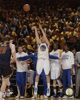 Klay Thompson Game 1 of the 2015 NBA Finals Fine Art Print
