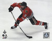 Duncan Keith Game 3 of the 2015 Stanley Cup Finals Framed Print