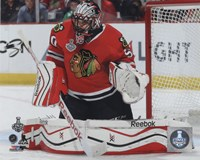 Corey Crawford Game 3 of the 2015 Stanley Cup Finals Fine Art Print