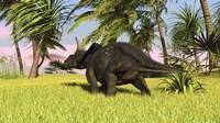Triceratops Dinosaur 10 Fine Art Print