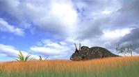 Triceratops Walking through Tall Grass by Kostyantyn Ivanyshen - various sizes
