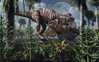 Tyrannosaurus Rex Kills a Triceratops as its Next Meal Fine Art Print