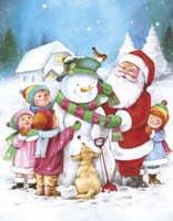 Santa Adds The Scarf by DBK-Art Licensing - various sizes