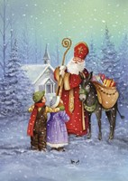 Saint Nicholas And His Donkey by DBK-Art Licensing - various sizes