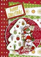 Merry Christmas From The Snowmen Fine Art Print