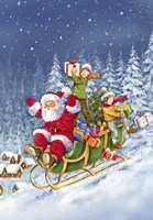 Ride Santa Ride by DBK-Art Licensing - various sizes