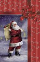 Santa's Red Christmas Gift Fine Art Print